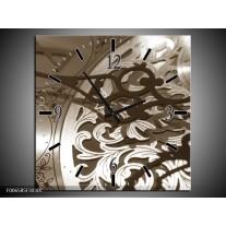 Wandklok Schilderij Klok | Sepia, Bruin