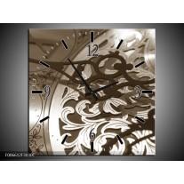 Wandklok Schilderij Klok | Sepia