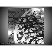 Wandklok Schilderij Klok | Grijs, Zwart