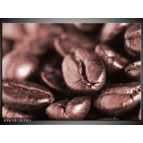 Glas Schilderij Koffiebonen, Keuken | Rood, Bruin