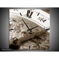 Wandklok Schilderij Klok, Keuken | Sepia