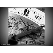 Wandklok Schilderij Klok, Keuken | Grijs, Zwart