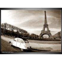 Glas Schilderij Steden, Parijs | Sepia