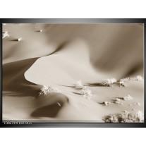 Glas Schilderij Zand | sepia
