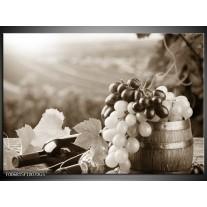 Glas Schilderij Druiven, Keuken   Sepia