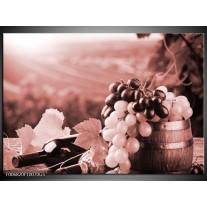 Glas Schilderij Druiven, Keuken | Bruin, Rood