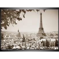 Glas Schilderij Parijs, Steden | Sepia