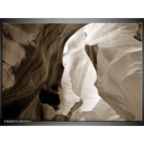 Glas Schilderij Zand   Sepia
