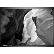 Glas Schilderij Zand | Zwart, Grijs