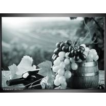 Glas Schilderij Druiven, Keuken | Grijs, Groen