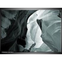 Glas Schilderij Zand | Grijs, Groen