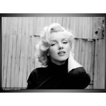 Canvas Schilderij Marilyn Monroe   Zwart, Wit, Grijs