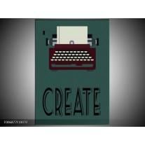 Canvas Schilderij Tekst | Groen, Bruin, Zwart