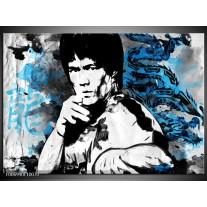 Canvas Schilderij Sport, Man | Grijs, Zwart, Blauw
