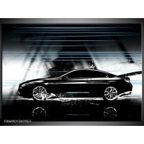 Glas Schilderij Auto | Grijs, Zwart, Blauw