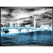 Canvas Schilderij Engeland, London | Blauw, Grijs, Wit
