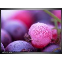 Canvas Schilderij Fruit, Keuken   Paars, Roze