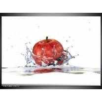 Canvas Schilderij Appel, Keuken | Rood, Wit