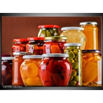 Glas Schilderij Keuken   Rood, Oranje, Geel