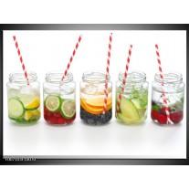 Canvas Schilderij Keuken, Drinken | Wit, Rood, Groen