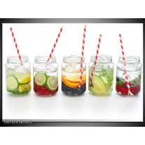 Glas Schilderij Keuken, Drinken | Wit, Rood, Groen