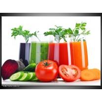 Canvas Schilderij Groenten, Keuken | Wit, Oranje, Groen