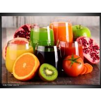 Canvas Schilderij Groenten, Fruit | Oranje, Geel, Groen