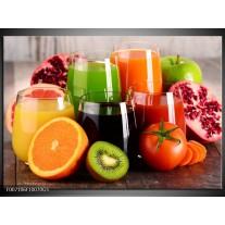 Glas Schilderij Groenten, Fruit | Oranje, Geel, Groen