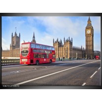 Canvas Schilderij Engeland, London | Rood, Blauw, Grijs