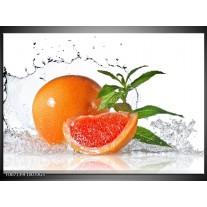 Glas Schilderij Fruit, Keuken   Oranje, Wit, Groen