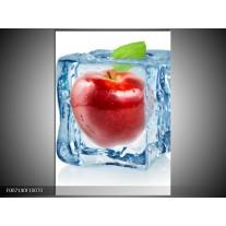 Canvas Schilderij Appel, Keuken | Rood, Blauw, Wit