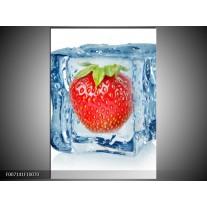 Canvas Schilderij Fruit, Keuken | Rood, Blauw, Wit