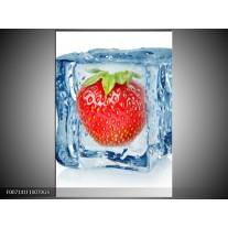 Glas Schilderij Fruit, Keuken | Rood, Blauw, Wit