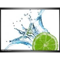 Canvas Schilderij Fruit, Keuken | Groen, Blauw, Wit