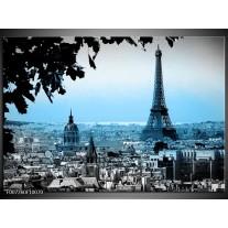 Canvas Schilderij Parijs, Eiffeltoren | Grijs, Blauw