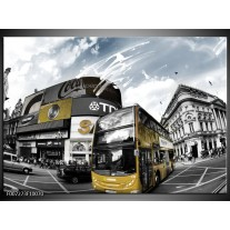 Canvas Schilderij Steden, Abstract | Geel, Grijs, Wit