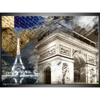 Canvas Schilderij Frankrijk, Parijs | Grijs, Crème, Geel