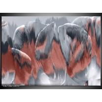 Canvas Schilderij Modern  | Grijs