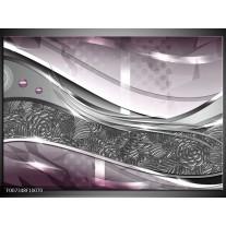Canvas Schilderij Design, Modern | Grijs, Paars