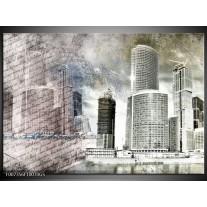 Glas Schilderij Steden, Modern | Grijs