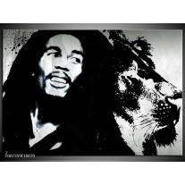 Canvas Schilderij Bob Marley | Zwart, Wit
