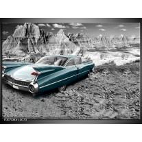 Canvas Schilderij Oldtimer, Auto | Zwart, Wit
