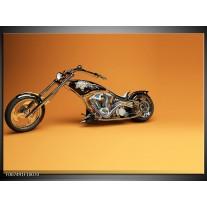 Canvas Schilderij Motor | Bruin, Geel, Oranje