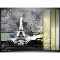 Canvas Schilderij Parijs, Eiffeltoren   Grijs