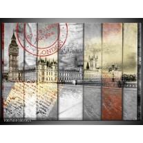 Glas Schilderij Engeland, London | Grijs