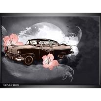 Canvas Schilderij Oldtimer, Auto | Grijs