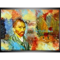 Canvas Schilderij Van Gogh, Modern | Oranje, Geel, Bruin