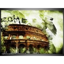 Glas Schilderij Italie, Rome | Groen, Bruin