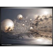 Glas Schilderij Design | Grijs
