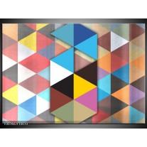 Canvas Schilderij Design | Blauw, Geel